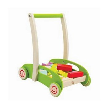 Block and Roll - wooden walker wagon with blocks