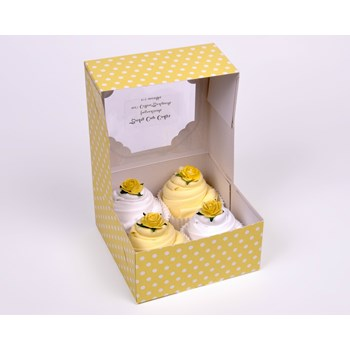 Luxury Gift Box of 4 Handmade Bodysuit Cupcakes Unisex