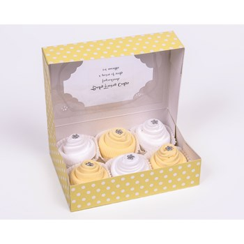 Gift Box of 6 Baby Socks Cupcakes Unisex