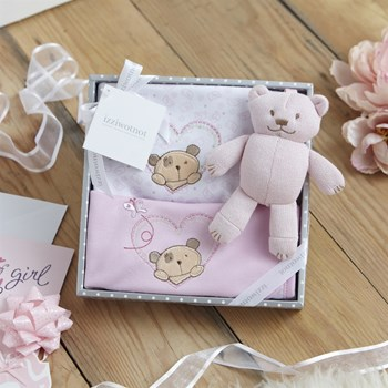 Little Treasure Luxury 3 Piece Gift Box in Pink