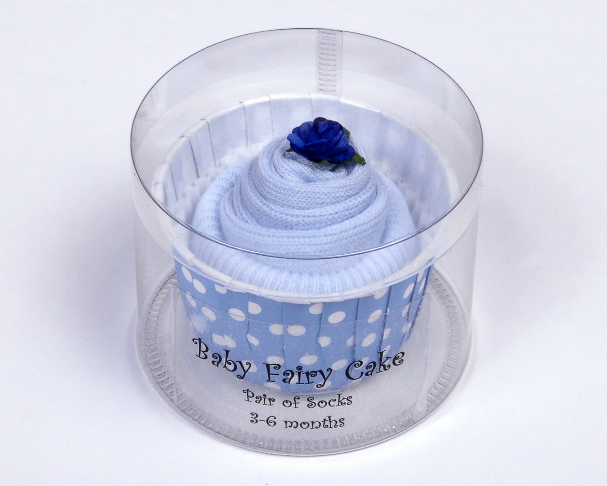 Single Pair Baby Socks Cupcake for a Baby Boy