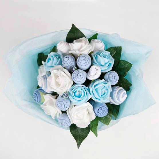 Baby Clothes Bouquet - Baby Boy