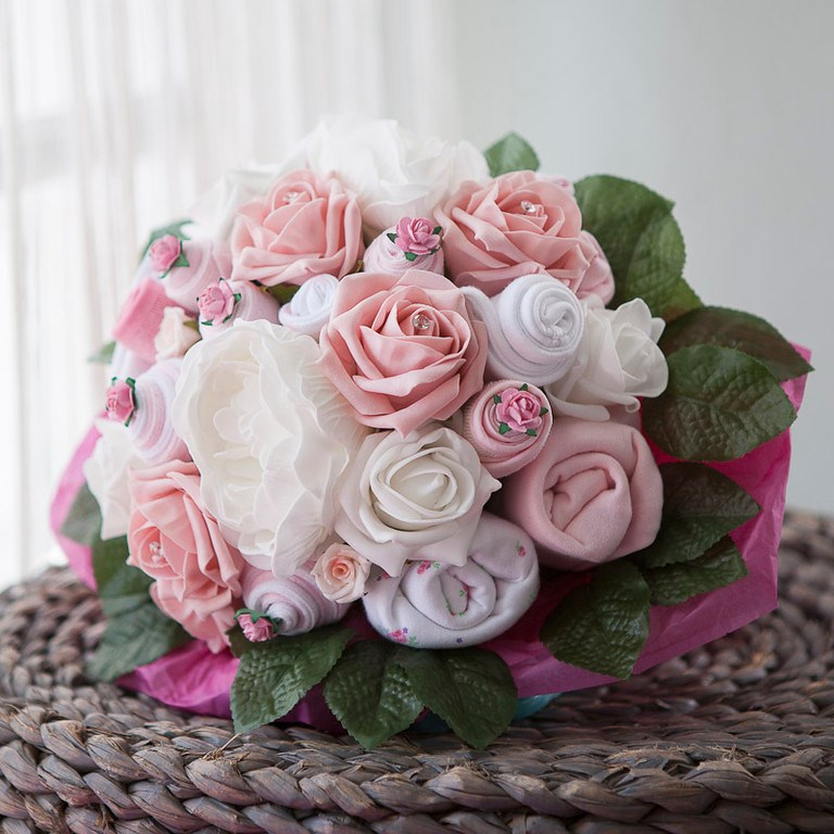 Large Baby Clothes Bouquet - Baby Girl