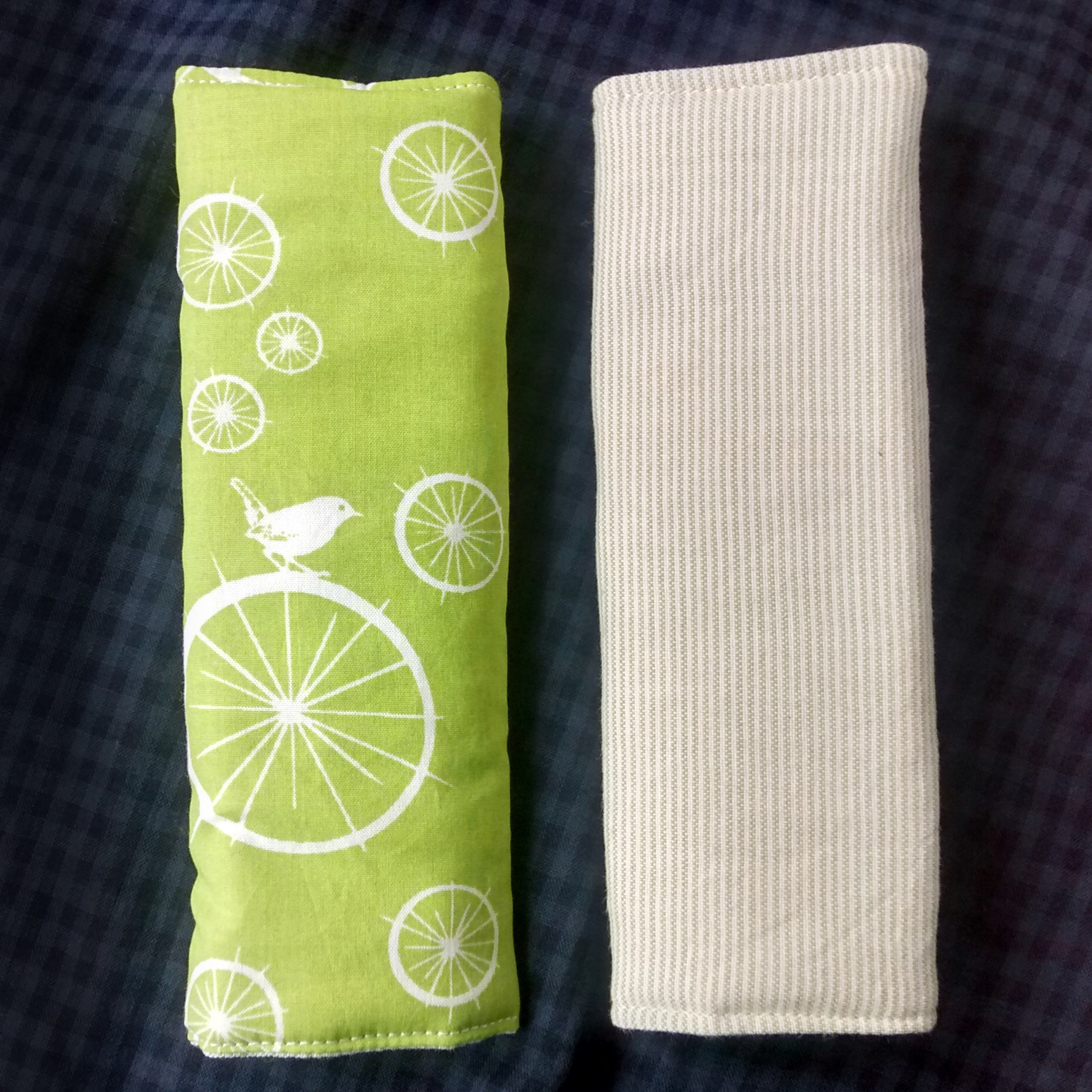 Organic Cotton Strap Cover for car-seat, pram or baby carrier