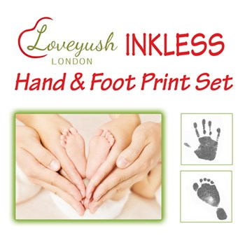 Inkless Baby Hand & Foot Print Set by Loveyush London