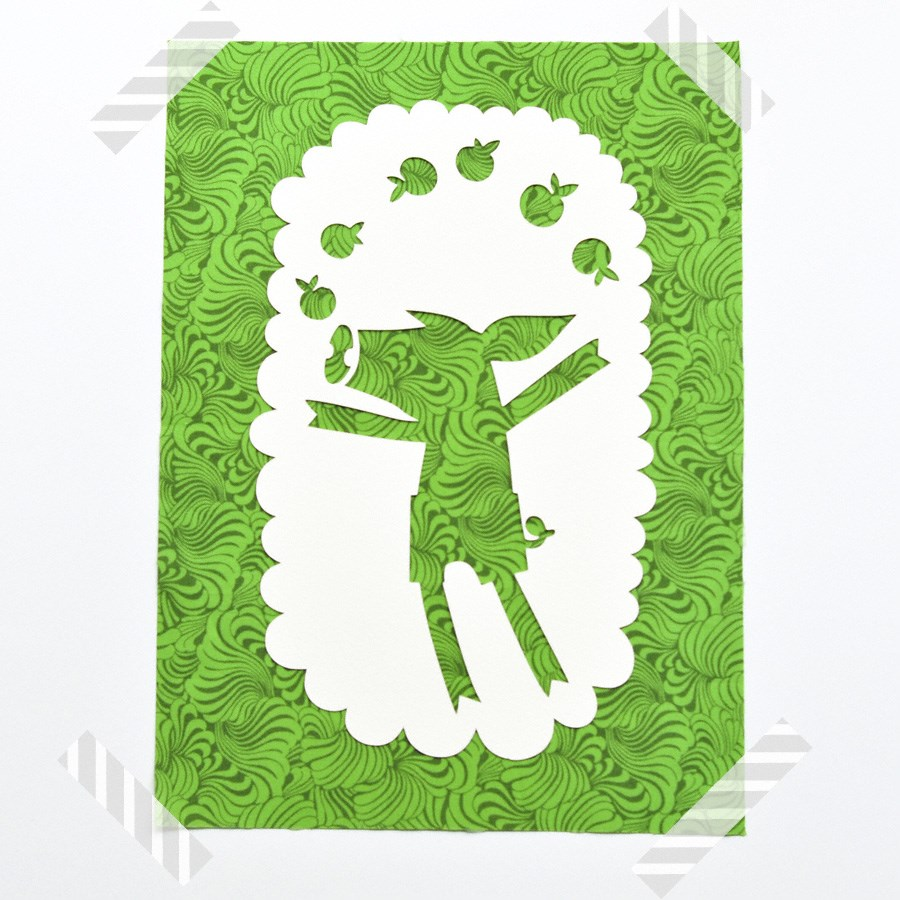 paper cut out poster for nursery room - animal collection