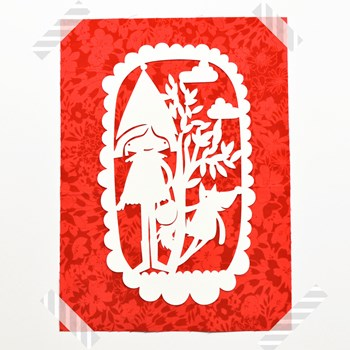 paper cut out poster for nursery room - tales collection