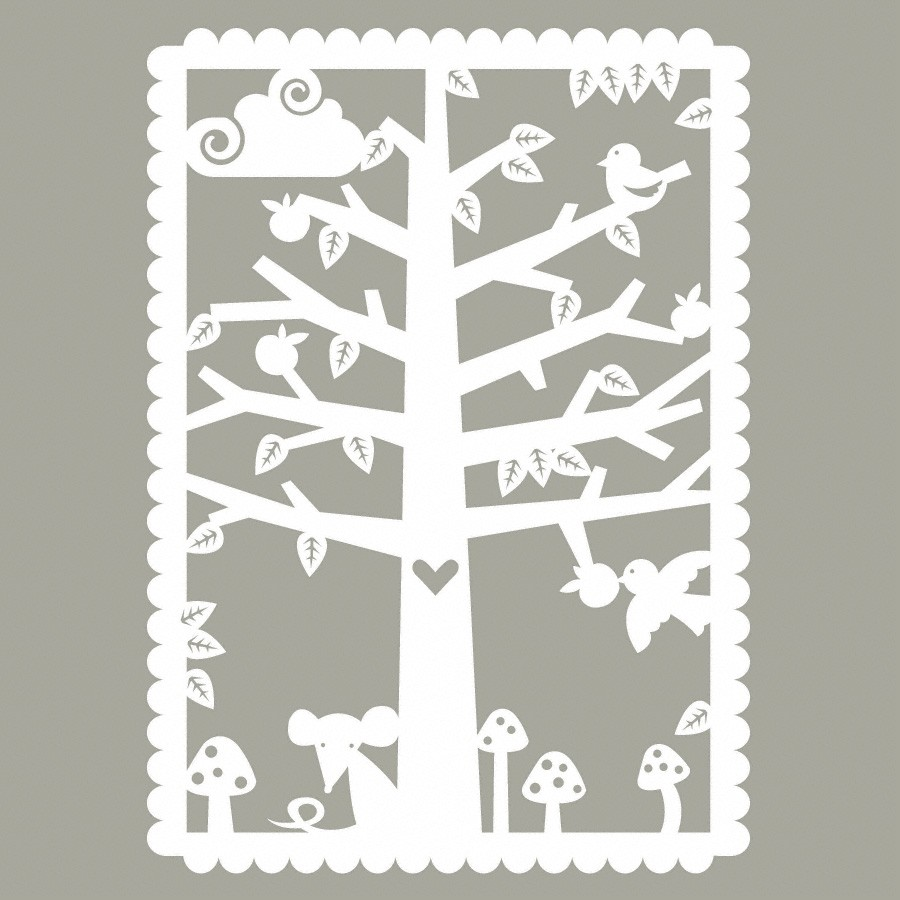 Paper Cutout Poster For Nursery Room Family Tree Loubilou