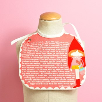 baby bib Once Upon a Time... Little Red Riding Hood tale