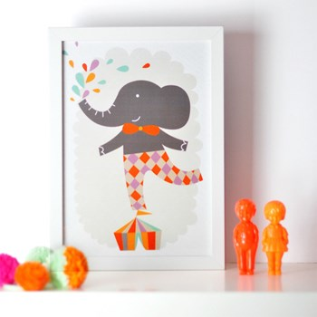 Art print illustration for nursery or kids room - 8,2x11,7 in