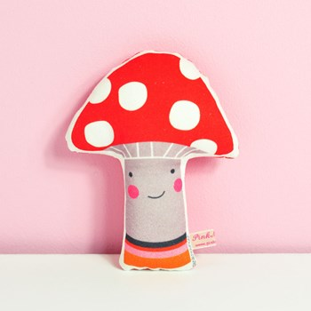 "baby rattle ""Mr Mushroom"" - in red"