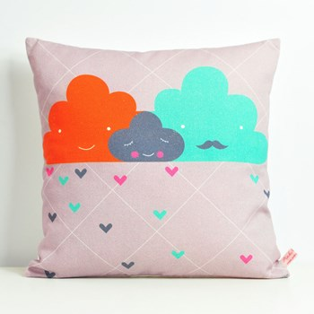decorative throw pillow for kids room with clouds family