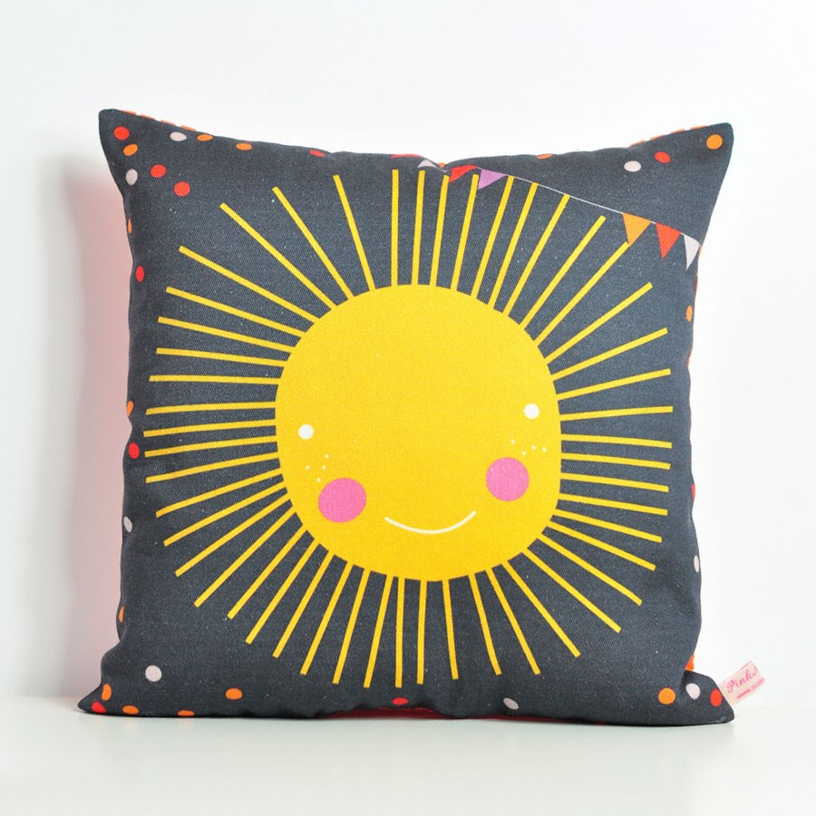decorative throw pillow for kids room with sun