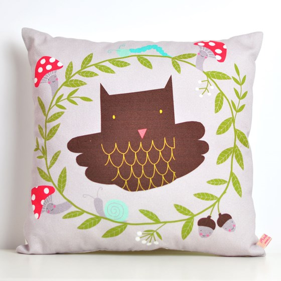 decorative throw pillow for kids room with owl