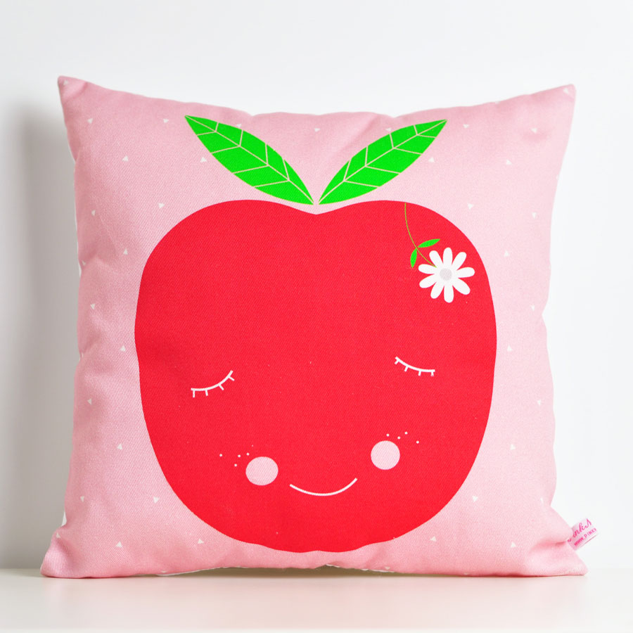 decorative throw pillow for kids room with apple loubilou