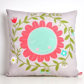 decorative throw pillow for kids room with flower