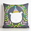 decorative throw pillow for kids room with polar bear