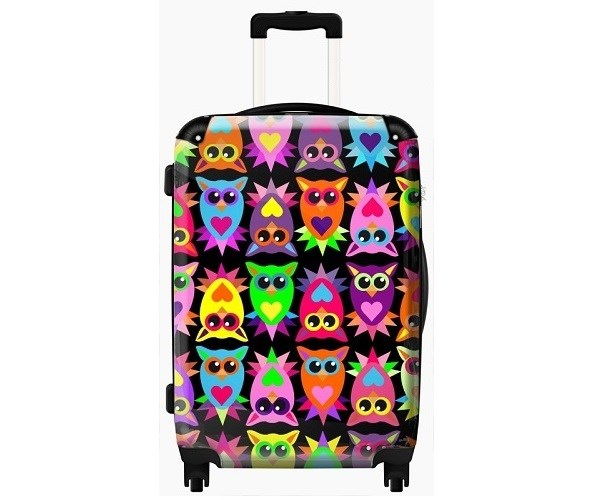 Colourful Owls Childrens Suitcase by Murano