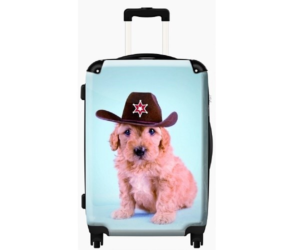 Cowboy Pup Cabin Luggage for Childrens