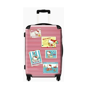 Hello Kitty Red and White Postcard Cabin Luggage
