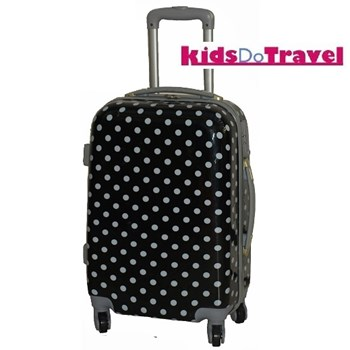 Polka Dot Black and White Cabin Luggage