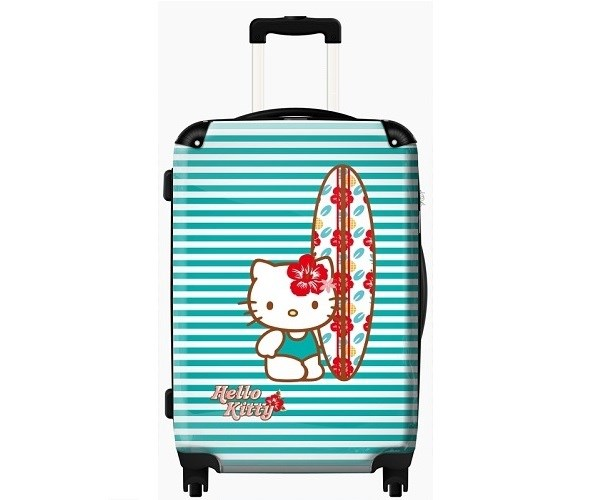 Hello Kitty Blue Surf Cabin Luggage for Girls