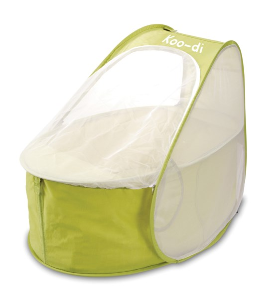 Koo-di Pop Up Travel Bassinette - Lemon & Lime (KD110/34)