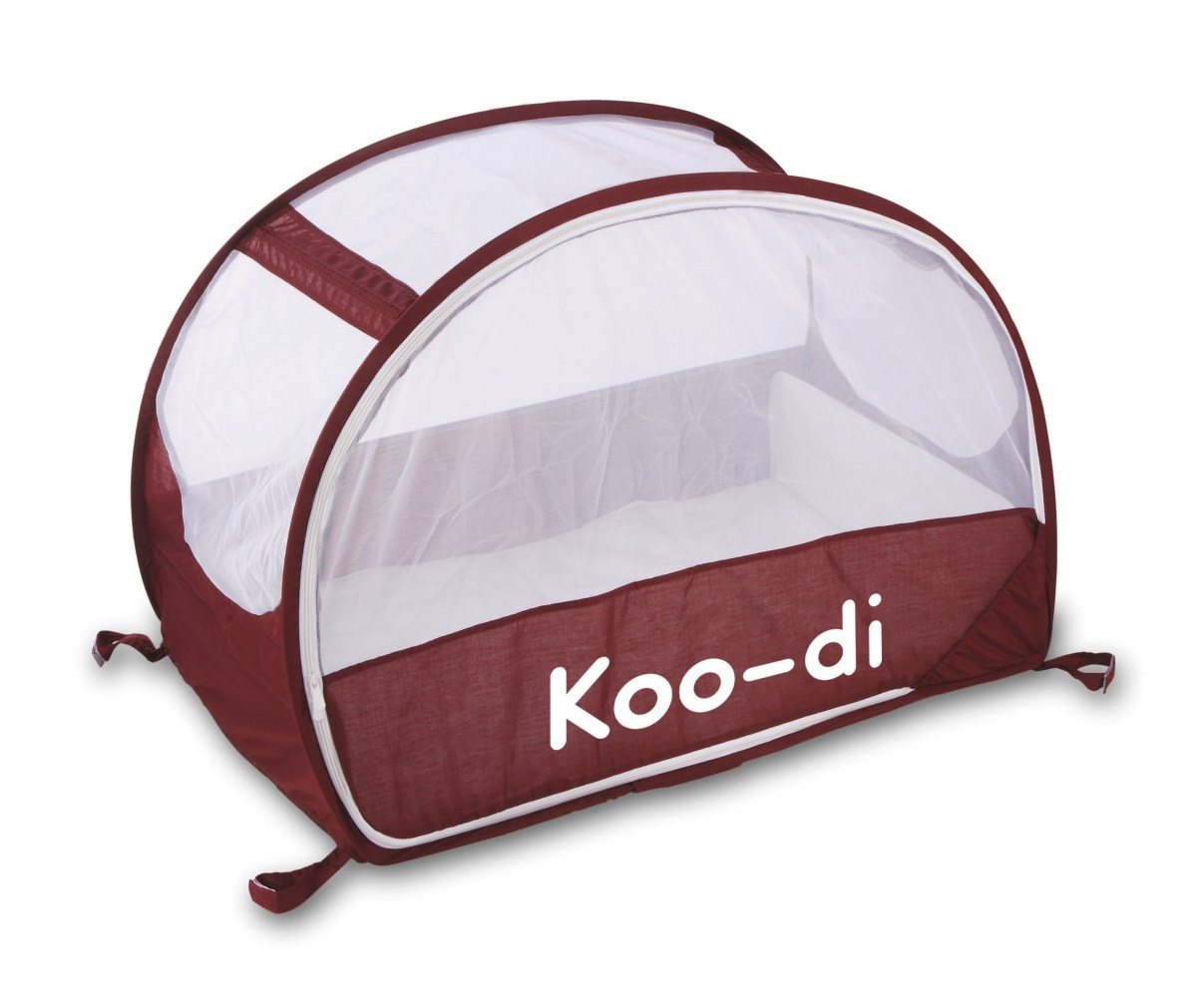 Koo-di Pop Up Travel Bubble Cot - Aubergine & White (KD111/35)