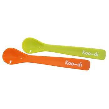 Koo-di Feed me Silicone Spoons, Lime and Orange