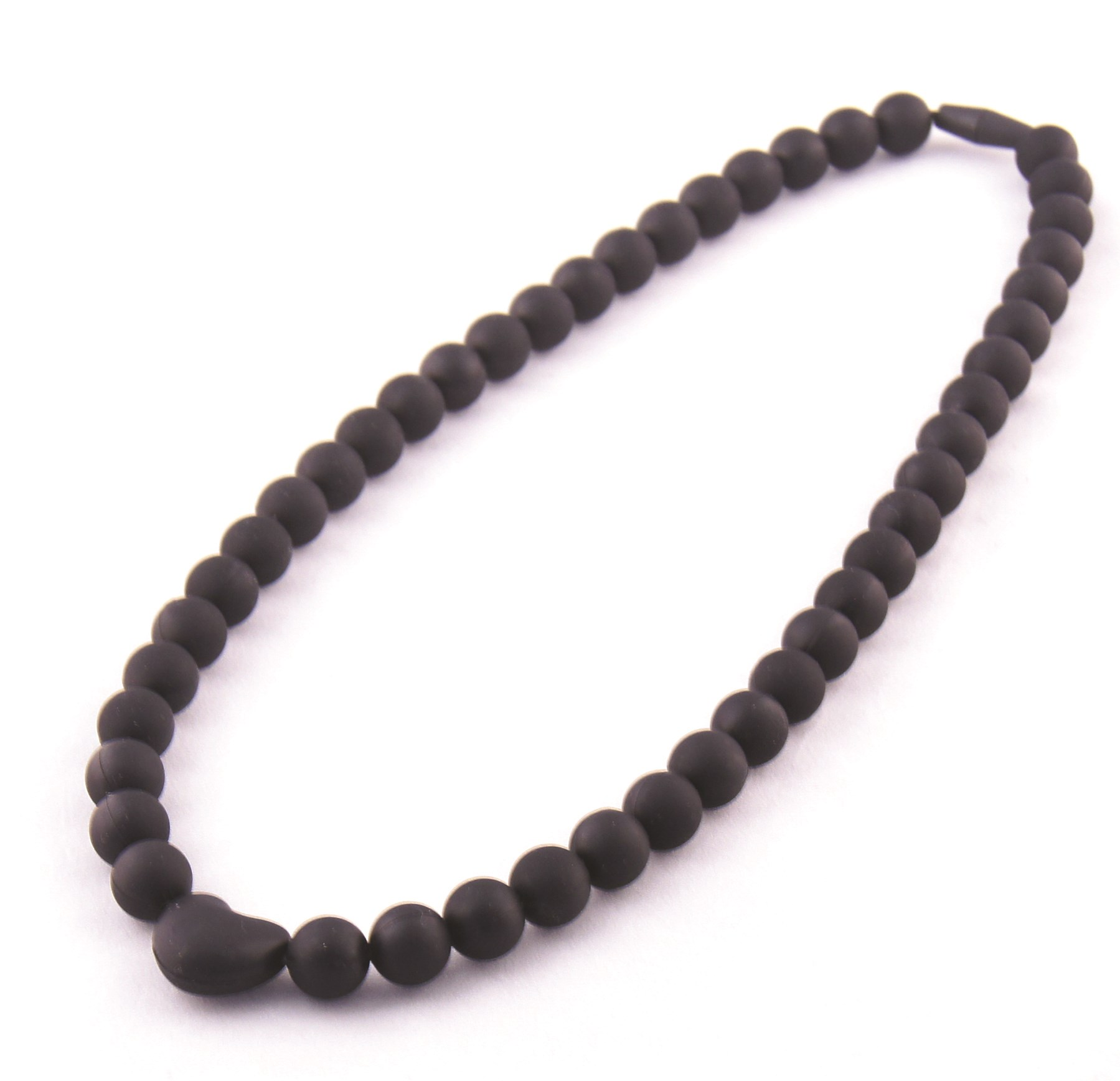 Koo-di Baby Choos Teether Necklace (Black Heart)