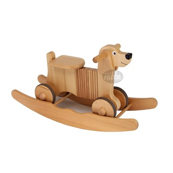 Hibba Wooden Ride on & Rocking Dog