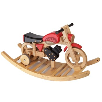 Hibba Sprinter Ride & Rocking Motorbike - Red/Black
