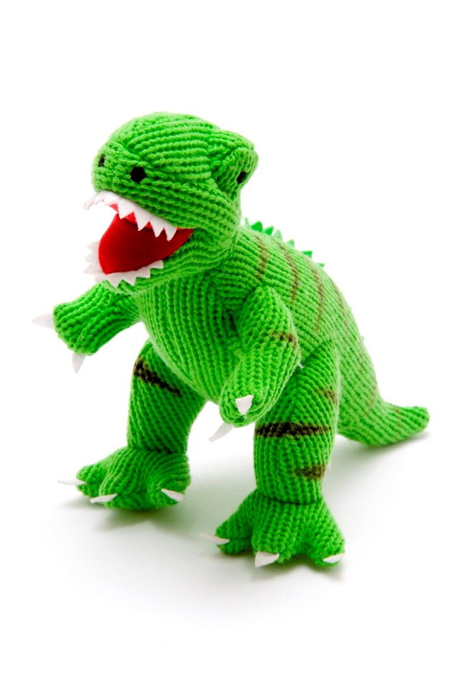 Fairly Traded Knitted T-Rex Dinosaur Toy