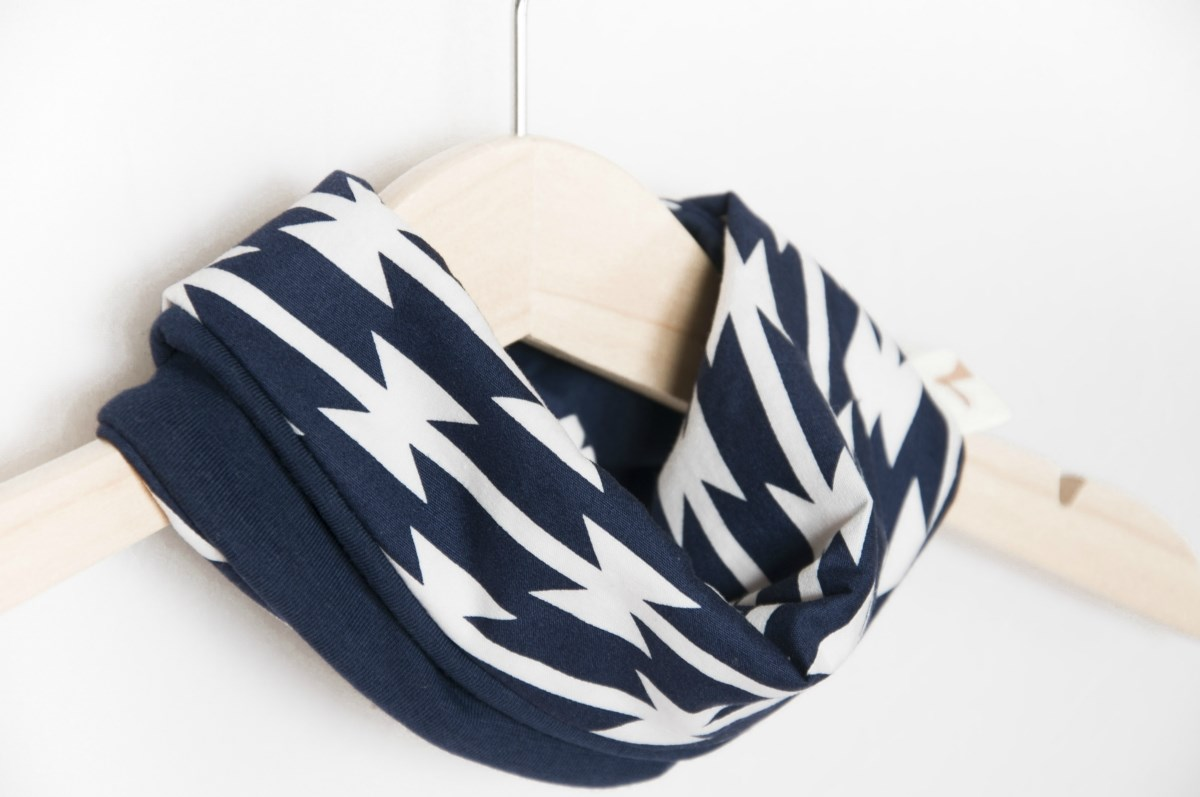 Baby scarf bib navy blue | Baby gift | Infinity scarf | Heavy drooler | 100% cotton | Baby Toddler