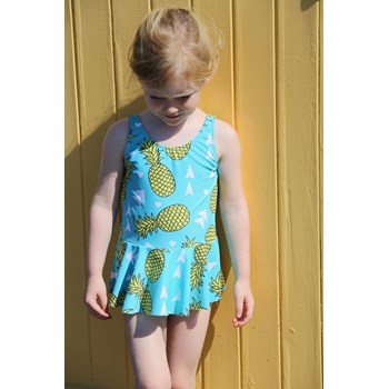 Peplum Swimsuit in Pineapples Print