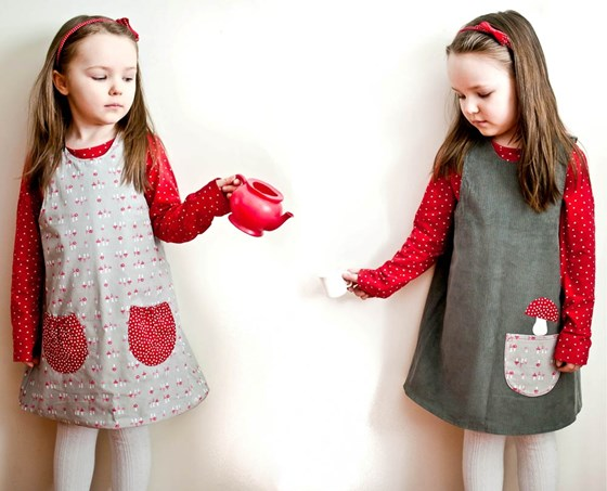 girls reversible toadstool dress