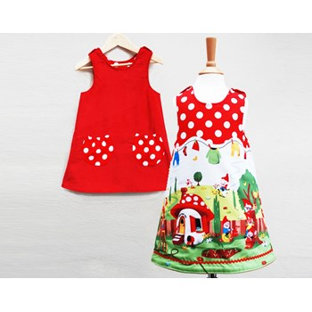 girls reversible gnome dress