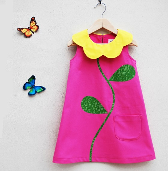 Sunflower girls dress for summer