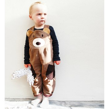 boys teddy bear dungaree