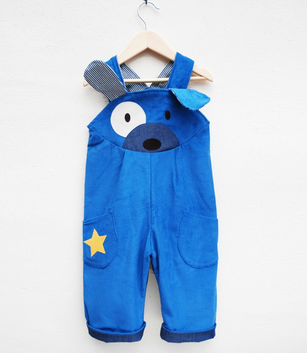 Puppy dog dress up dungaree
