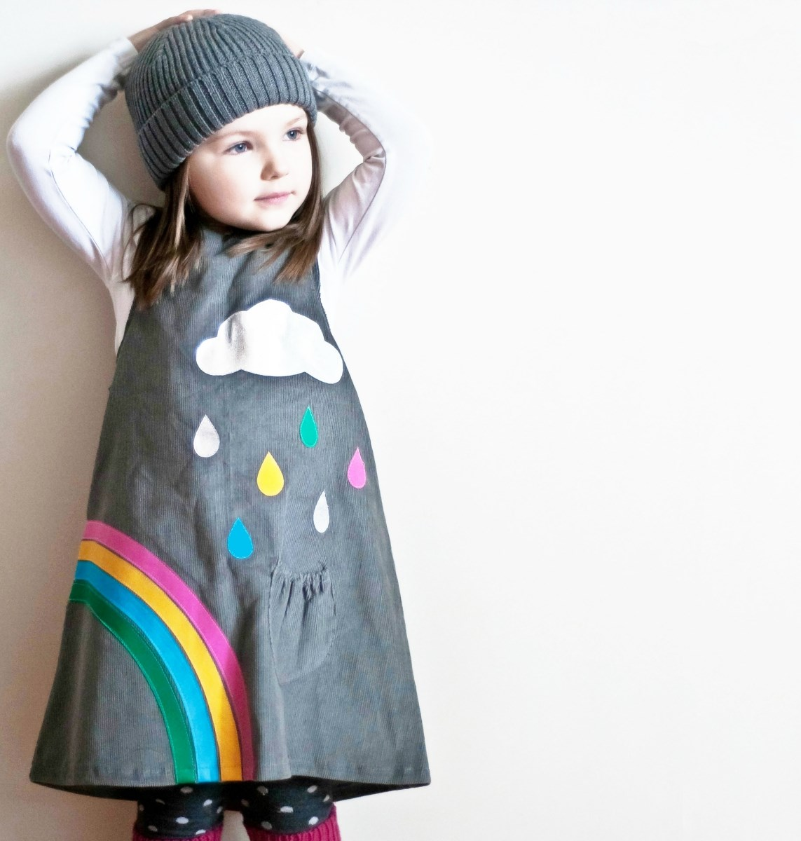 Rainbow and silver cloud dress