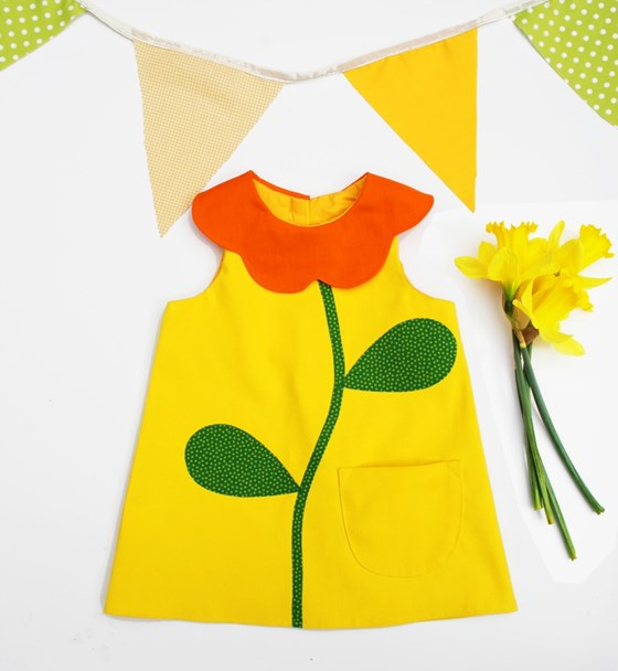Girls Yellow Flower Dress