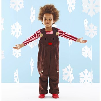 Rudolph reindeer dungaree dress up