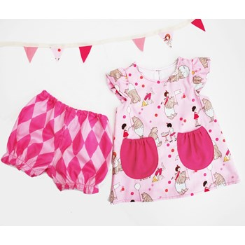 Baby Girls Pink Summer dress set