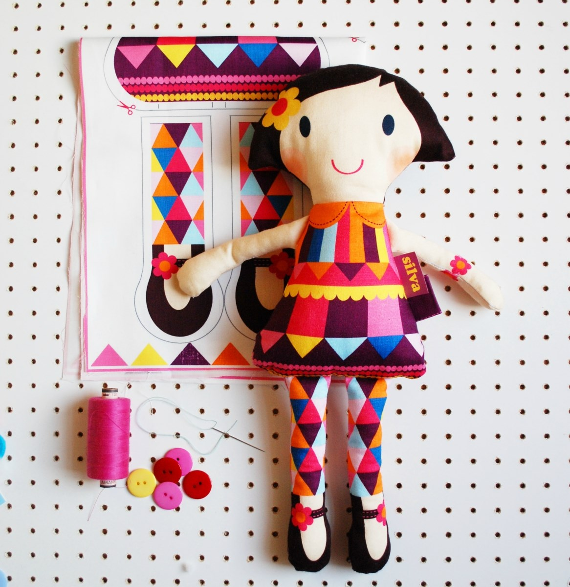Personalised Make your own soft doll kit