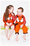 boys fox dungaree