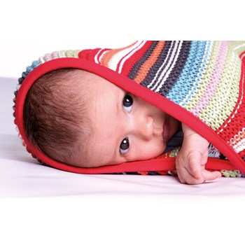 Unisex Knitted Baby Blanket