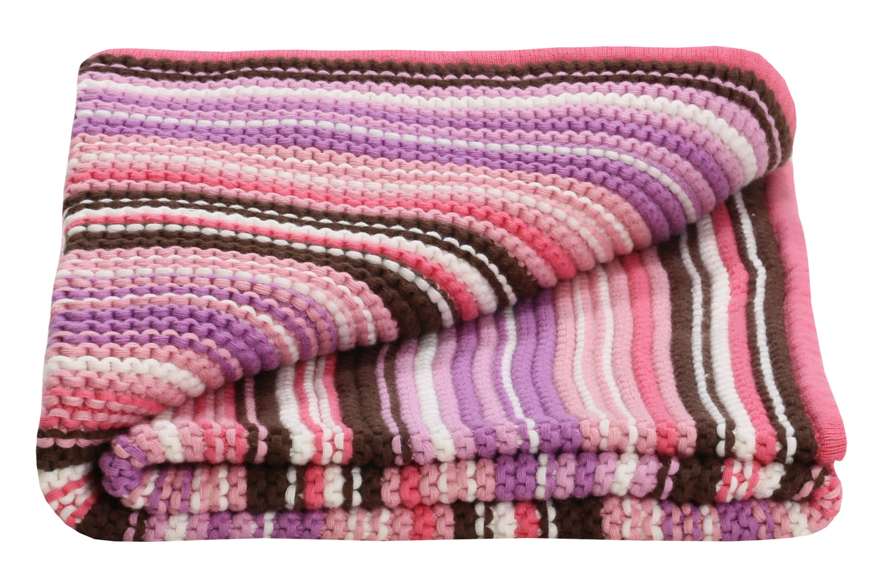 Baby Girls Knitted blanket ideal baby gift incl. free card