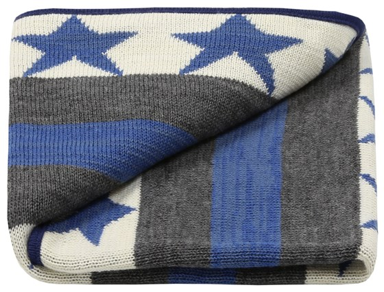 Super star knitted blanket ideal baby gift (free card)