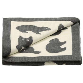 Luxury knitted forest friends baby blanket ideal baby gift